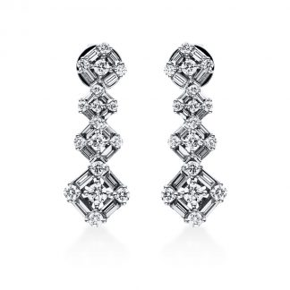 18 kt white gold studs with 66 diamonds 2E010W8-1