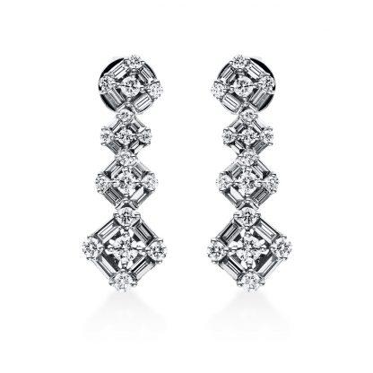 18 kt white gold studs with 66 diamonds 2E010W8-1