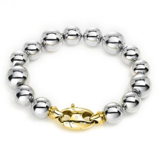 18 kt white gold / yellow gold bracelet with 26 diamonds 5A206WG8-1