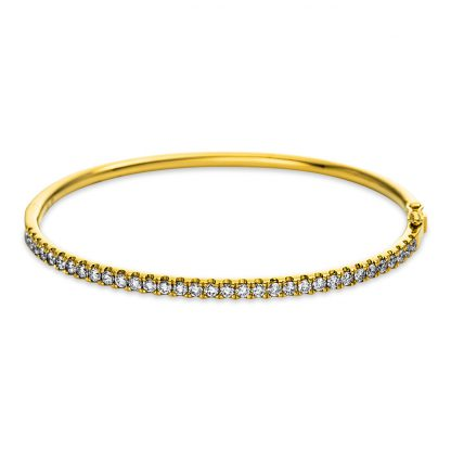18 kt yellow gold bangle with 33 diamonds 6A130G8-1