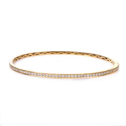 18 kt yellow gold bangle with 49 diamonds 6A039G8-13