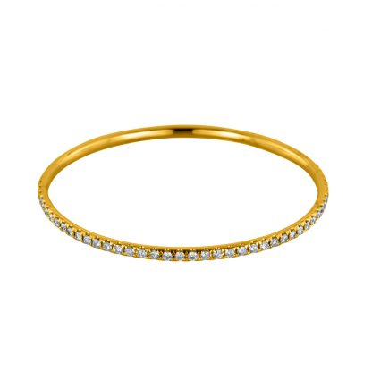 18 kt yellow gold bangle with 75 diamonds 6A007G8-1