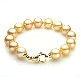 18 kt yellow gold bracelet with 20 diamonds