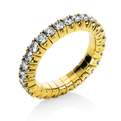 18 kt yellow gold eternity full with 28 diamonds 1N236G851-2
