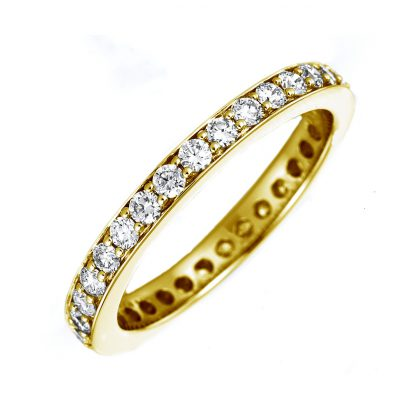 18 kt yellow gold eternity full with 32 diamonds 1B895G854-1