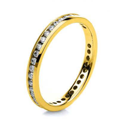 18 kt yellow gold eternity full with 40 diamonds 1C544G853-1