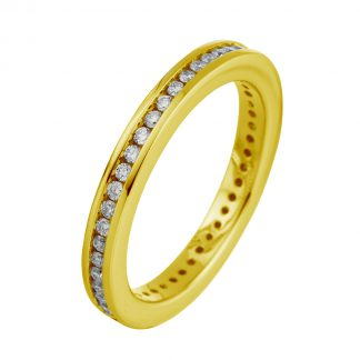 18 kt yellow gold eternity full with 43 diamonds 1C732G853-2