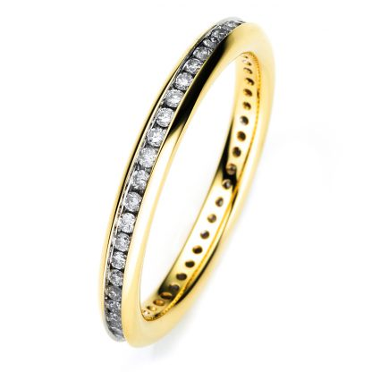 18 kt yellow gold eternity full with 46 diamonds 1B903G852-1