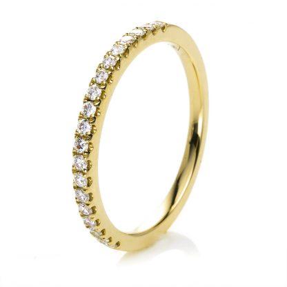 18 kt yellow gold eternity half with 19 diamonds 1B211G853-3
