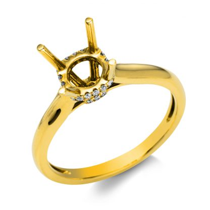 18 kt yellow gold mounting with 26 diamonds 1C601G853-1