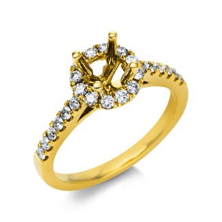 18 kt yellow gold mounting with 38 diamonds 1L257G854-1