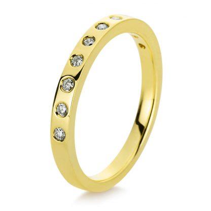 18 kt yellow gold multi stone with 10 diamonds 1B719G852-1