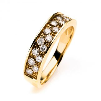 18 kt yellow gold multi stone with 16 diamonds 1A019G853-1