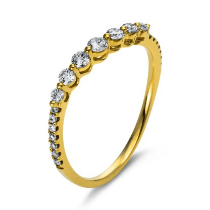 18 kt yellow gold multi stone with 21 diamonds 1N575G854-1