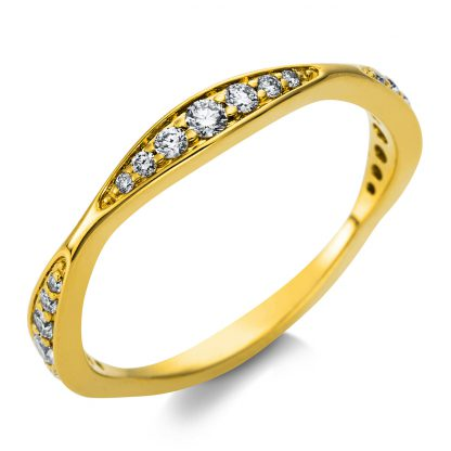 18 kt yellow gold multi stone with 21 diamonds 1T489G854-1