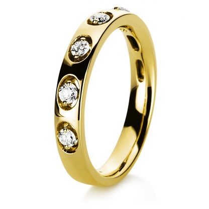 18 kt yellow gold multi stone with 5 diamonds 1C761G854-2