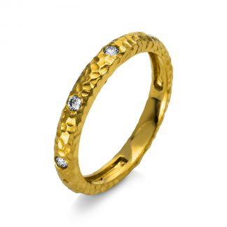 18 kt yellow gold multi stone with 5 diamonds 1M879G853-1