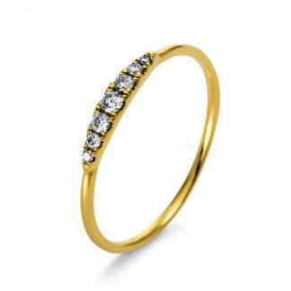 18 kt yellow gold multi stone with 7 diamonds 1P897G853-2
