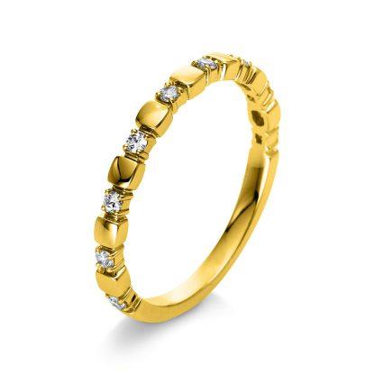 18 kt yellow gold multi stone with 9 diamonds 1Q399G855-1