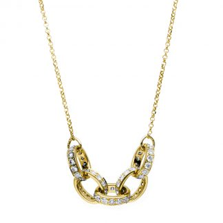 18 kt yellow gold necklace with 69 diamonds 4C154G8-1