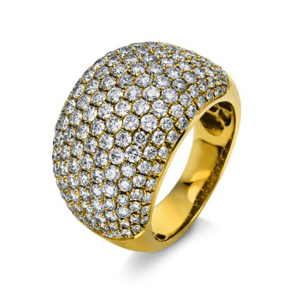 18 kt yellow gold pavé with 184 diamonds 1A593G853-5