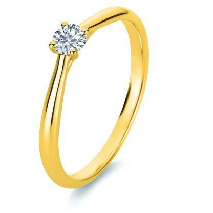 18 kt yellow gold solitaire with 1 diamond 1A289G853-6