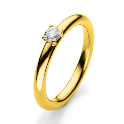 18 kt yellow gold solitaire with 1 diamond 1A381G854-1