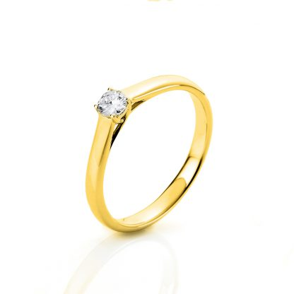 18 kt yellow gold solitaire with 1 diamond 1A441G853-1