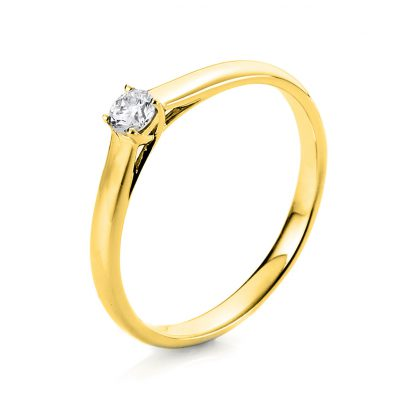 18 kt yellow gold solitaire with 1 diamond 1A442G853-1