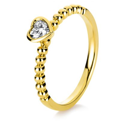 18 kt yellow gold solitaire with 1 diamond 1B753G850-1