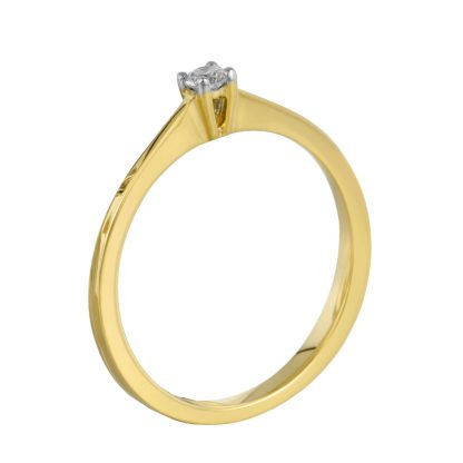 18 kt yellow gold solitaire with 1 diamond 1B919G854-1