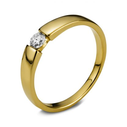 18 kt yellow gold solitaire with 1 diamond 1B930G859-1
