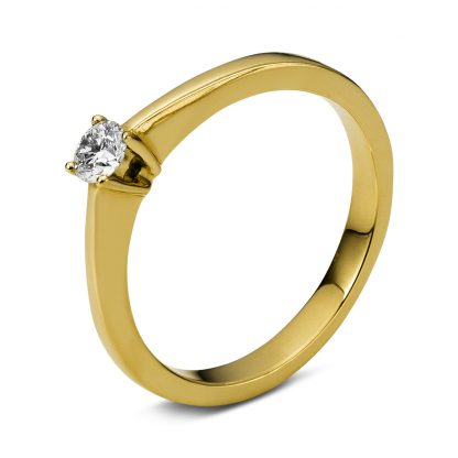 18 kt yellow gold solitaire with 1 diamond 1B949G853-1