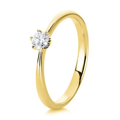 18 kt yellow gold solitaire with 1 diamond 1C479G854-4
