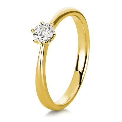 18 kt yellow gold solitaire with 1 diamond 1C481G853-1