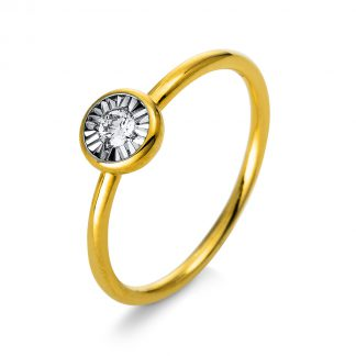 18 kt yellow gold solitaire with 1 diamond 1Q204G854-1