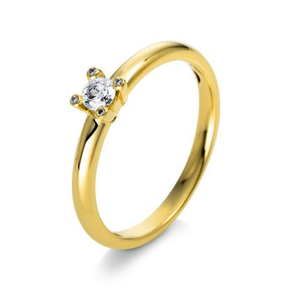 18 kt yellow gold solitaire with 5 diamonds 1Q394G855-1
