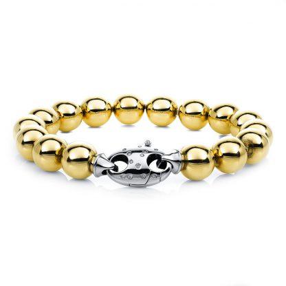 18 kt yellow gold / white gold bracelet with 26 diamonds 5A669GW8-1