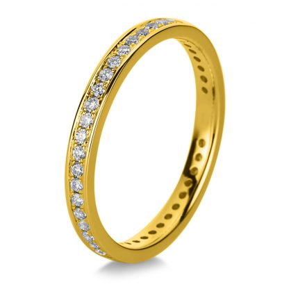 18 kt yellow gold / white gold eternity full with 43 diamonds 1A473GW853-1