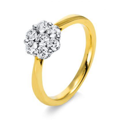 18 kt yellow gold / white gold illusion with 7 diamonds 1B499GW853-2