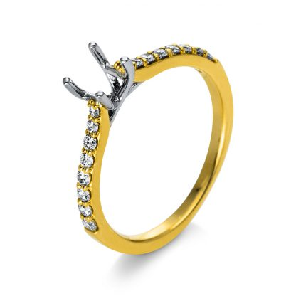 18 kt yellow gold / white gold mounting with 16 diamonds 1C960GW853-1