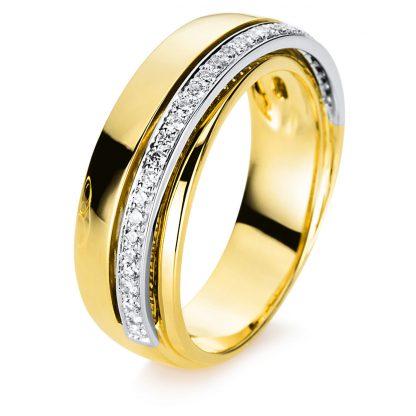 18 kt yellow gold / white gold multi stone with 31 diamonds 1B971GW855-1