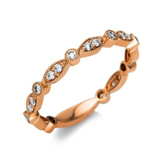 Rosé gold ring with diamonds O6-44113 01