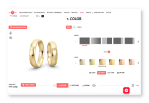 Niessing wedding ring configurator