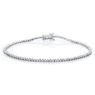 18 kt fehérarany karkötő 98 gyémánttal 5A630W8-3