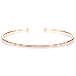18 kt red gold bangle with 53 diamonds 6A008R8-6