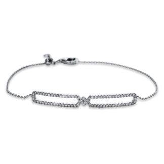 18 kt white gold bracelet with 76 diamonds 5B607W8-1