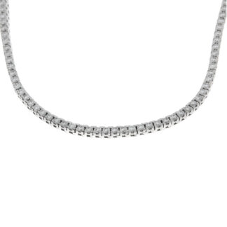 18 kt white gold necklace with 347 diamonds 4A126W8-1