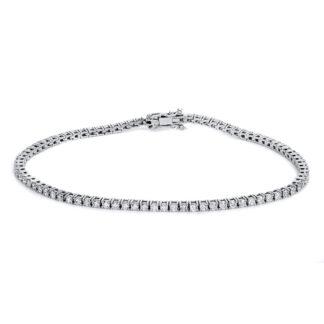 14 kt white gold bracelet with 84 diamonds 5B135W4-1