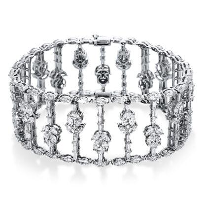 18 kt fehérarany karkötő 280 gyémánttal 5C006W8-1